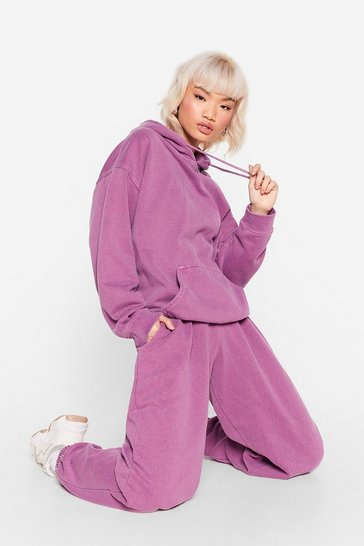 Fushia My Day One Petite Hoodie and Joggers Set