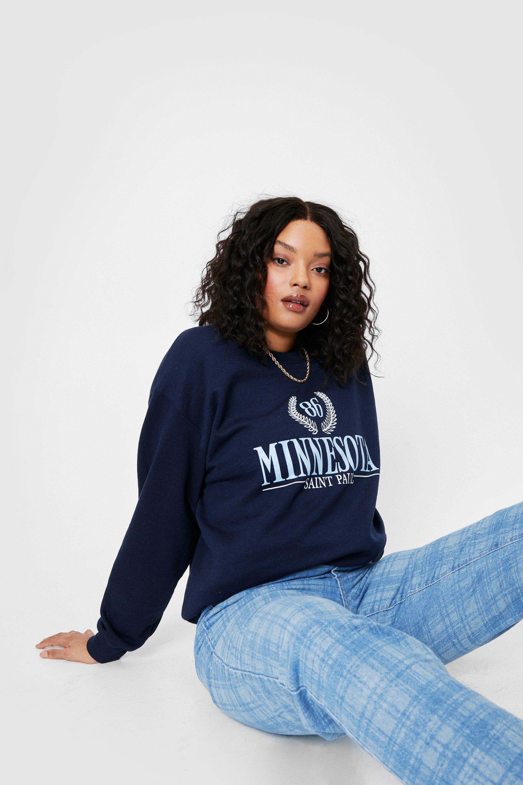 Plus Size Minnesota Slogan Sweat 19