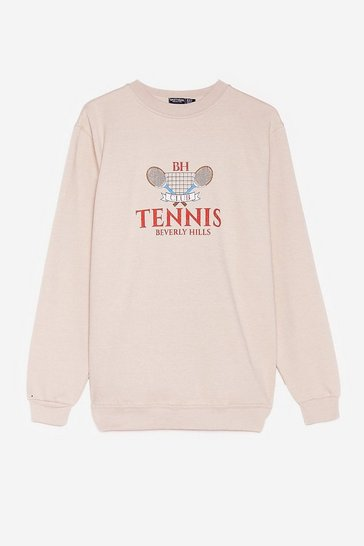 Sand Cause a Racquet Plus Tennis Graphic Sweatshirt