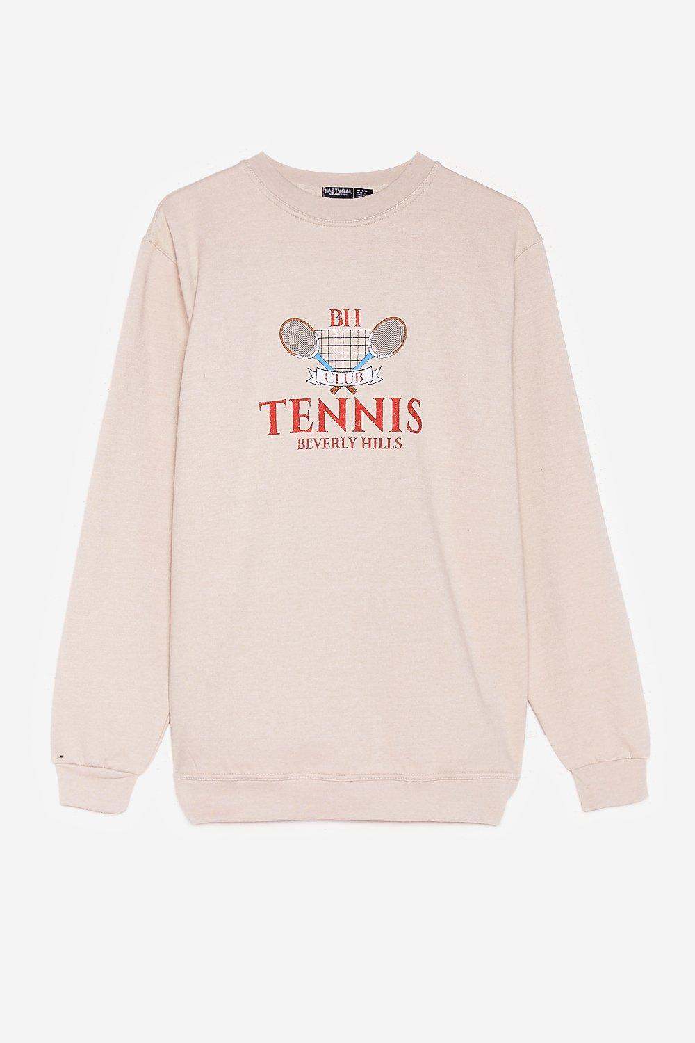 Cause a Racquet Plus Tennis Graphic Sweatshirt 11