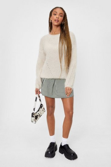 Beige We're Keeping Knit Quick Fluffy Relaxed Jumper
