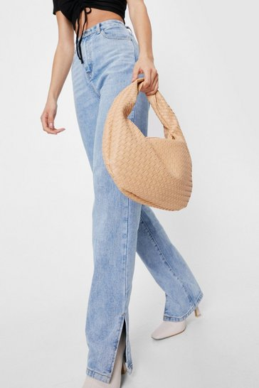 Caramel WANT Woven Slouchy Shoulder Bag