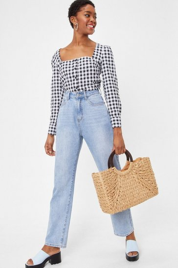 Brown WANT Oversized Structured Woven Day Bag