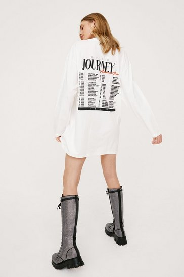 Cream The American Tour Graphic Tee Dress