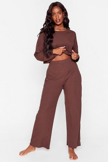 Chocolate Keep Your Cool Plus Top and Pants Lounge Set