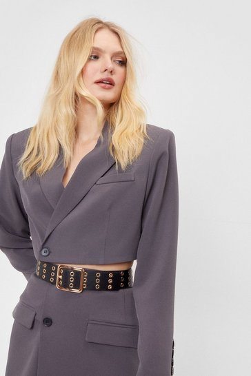 Black Eyelet's Stay Together Faux Leather Belt