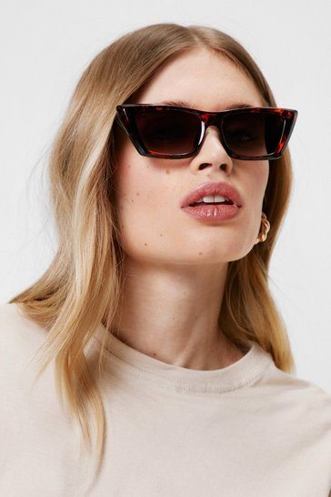 Brown Tort You Knew Tinted Cat-Eye Sunglasses