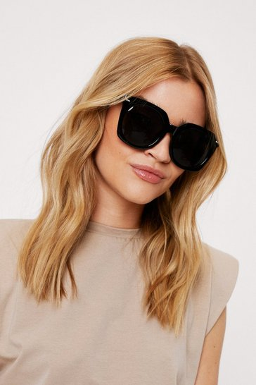 Black Tinted Oversized Square Sunglasses