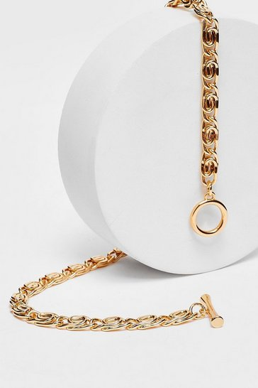 Gold Plated O-clasp Chain Necklace