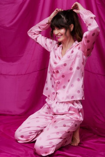 Pink We Need a Nap Spotty Shirt and Pants Pajama Set