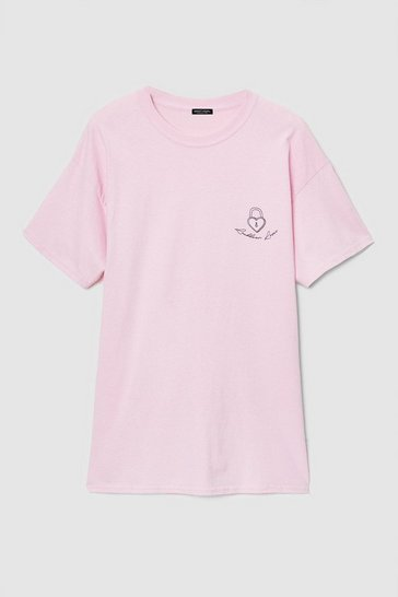 Baby pink Lockdown Lover Plus Size Graphic Tee