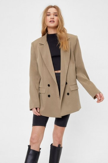 Sage Out of Hours Oversized Double Breasted Blazer