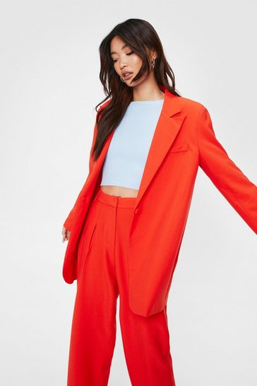 Oversized Single Breasted Blazer Suit