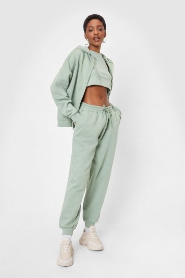 Sage Racerback 3-Pc Hoodie and Joggers Lounge Set