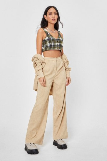 Stone Smash the Record-uory Wide-Leg Trousers