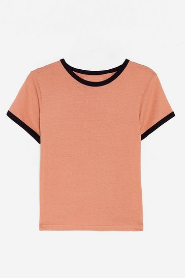 Camel Round Two-Tone Relaxed Ringer Tee