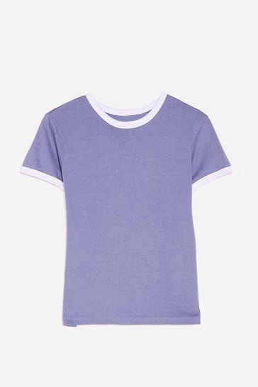 Slate Round Two-Tone Relaxed Ringer Tee