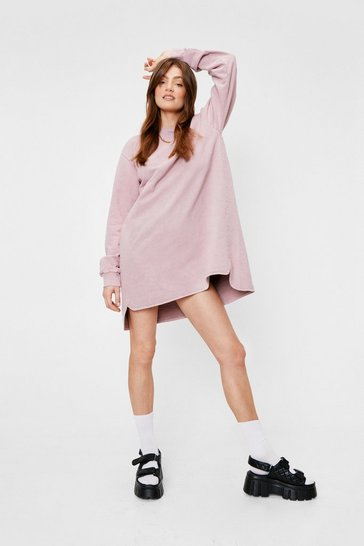 Dusty rose Bend Over-sized Backwards Sweatshirt Dress