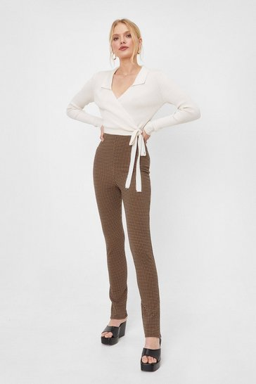 Multi 'Til I Hound You Split High-Waisted Pants