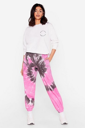 Pink Tie Dye Oversized Sweatpants