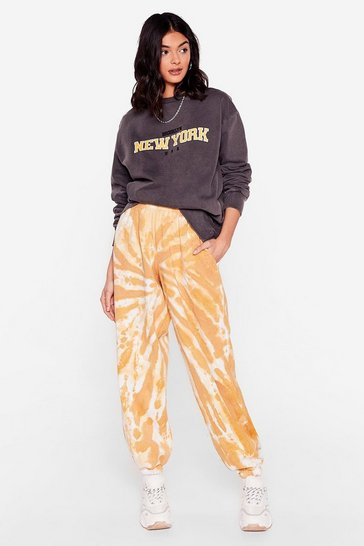 Mustard Tie Dye You Ask Relaxed Joggers