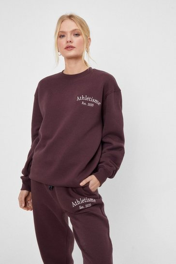 Athletisme Graphic Sweatshirt and Jogger Set