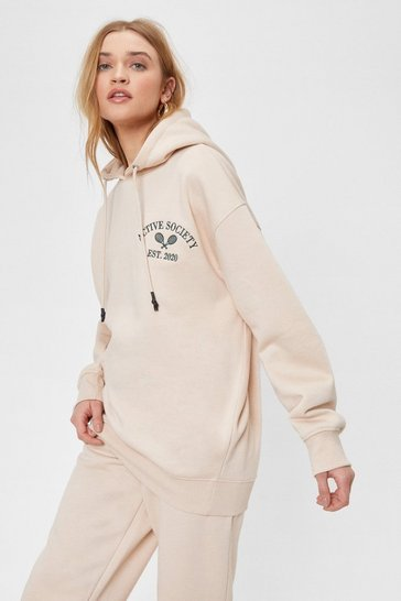Sand Keep Active Society Embroidered Hoodie