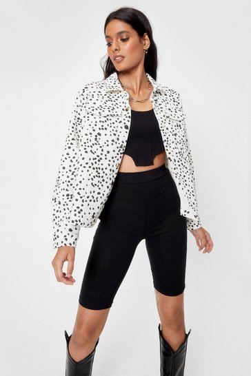 White Spot It Going On Dalmatian Corduroy Jacket