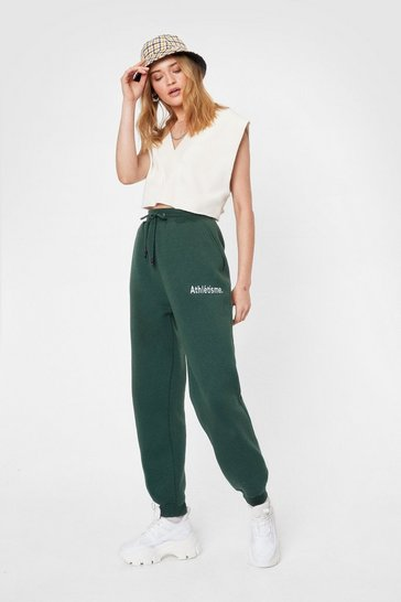 Dark green Be a Good Sport Oversized Graphic Joggers
