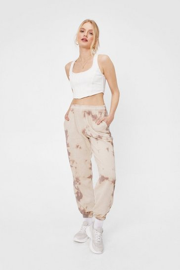 Mono Cutting All Tie Dyes High-Waisted Oversized Joggers