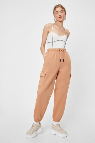 Camel Just Cargo With It High-Waisted Joggers