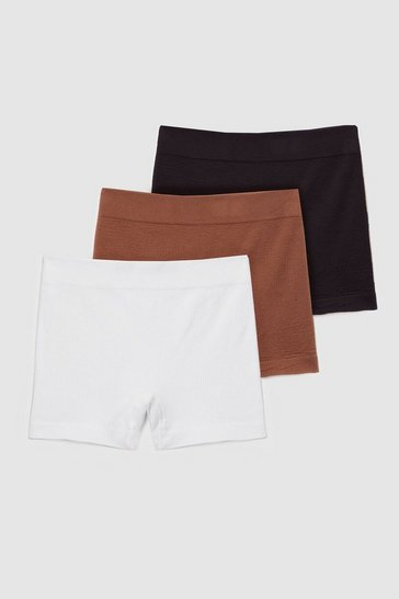 Multi Seamless Nights 3-Pc Ribbed Boxer Shorts Set