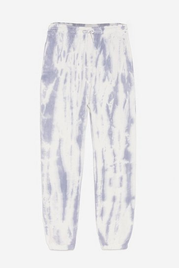 Blue Take Your Tie Dye Plus Oversized Joggers