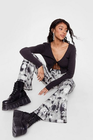 Mono Night Skies Tie Dye Flare Pants