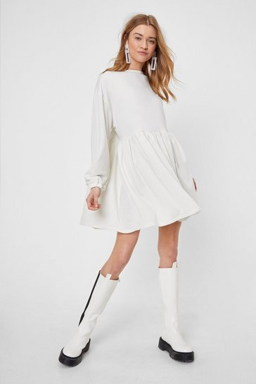 Cream Smock Out the Competition Relaxed Mini Dress