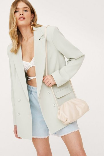 Stone Faux Leather Slouchy Crossbody Bag