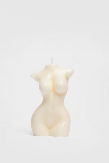 White Female Figure Soy Wax Candle