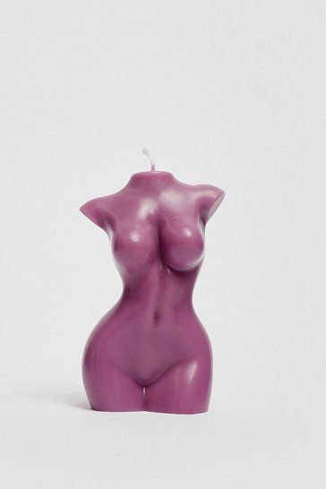 Purple Medium Female Body Candle