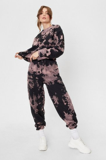 Mauve Groove On Tie Dye Sweatshirt and Joggers Set