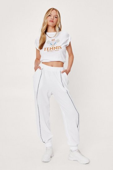 Ecru Do Your Thing Oversized Workout Joggers
