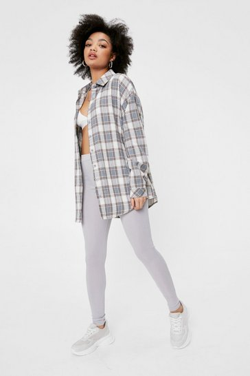 Grey Tell Us What You Seam Petite High-Waisted Leggings