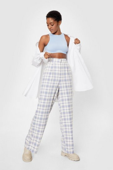 Blue That's Line By Us High-Waisted Wide-Leg Pants