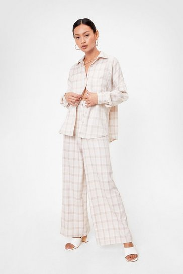 Beige Tailor Isn't an Option Petite Wide-Leg Pants