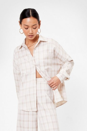 Beige Tailor Isn't an Option Petite Relaxed Shirt
