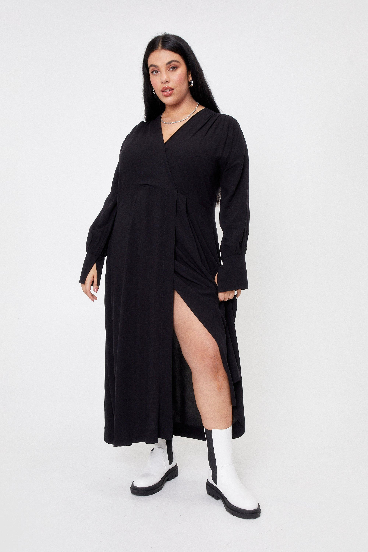 Meet You Halfway Plus Wrap Midi Dress 6