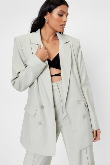 Mint Workin' On the Weekend Oversized Blazer