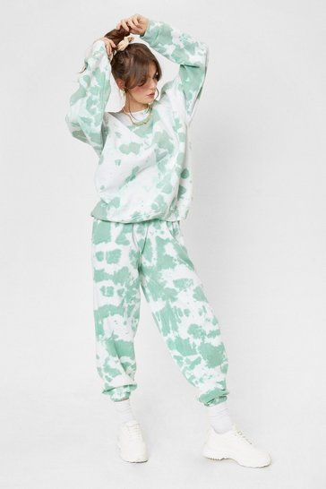 Sage Get Into the Groove Oversized Tie Dye Lounge Set