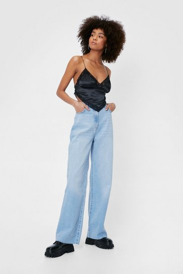 Light blue Nasty Gal High Waisted Wide Leg Jeans