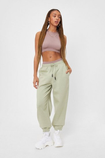 Sage Work It Out Cuffed High-Waisted Joggers