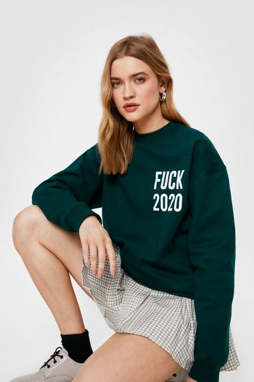 Forest Fuck 2020 Oversized Graphic Sweatshirt